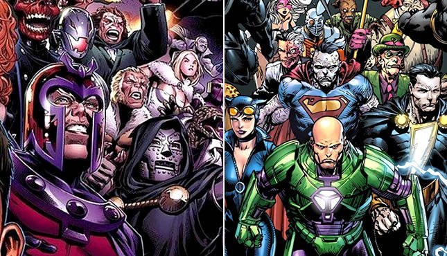 Marvel Villains Vs DC Villains